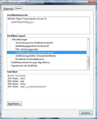 Einrichtung eines Multidomain SSL Zertifikates – SSLplus