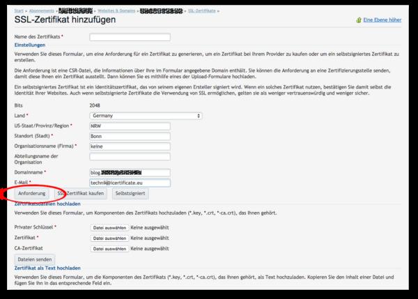 SSL Zertifikat in Plesk einbinden – SSLplus