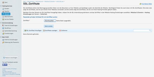 CSR-Erstellung Plesk 12 – SSLplus